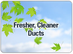 Enjoy cleaner ducts